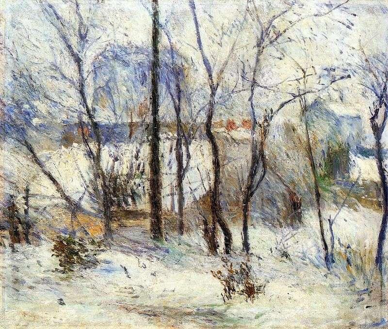 Ogród na śniegu   Paul Gauguin