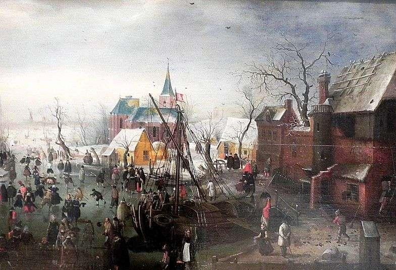 W zimie w Eiselmayden   Hendrik Averkamp