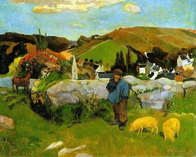 Stado wieprzowe, Bretania   Paul Gauguin