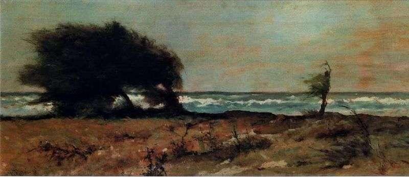 Storm (Southwest Wind).   Giovanni Fattori