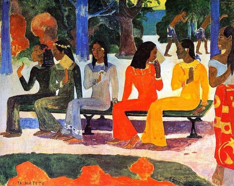 Dziś nie wejdziemy na rynek   Paul Gauguin
