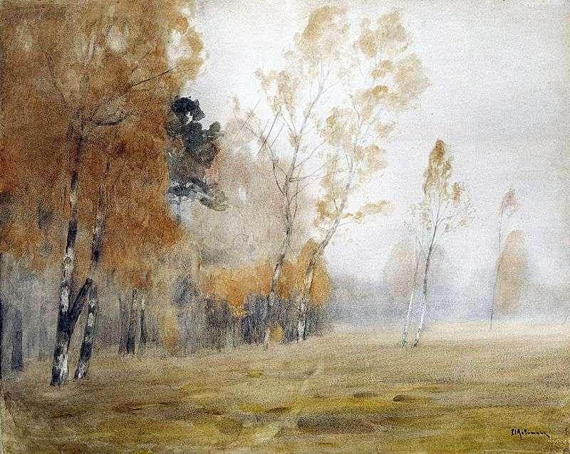 Mgła Jesień   Izaak Lewitan