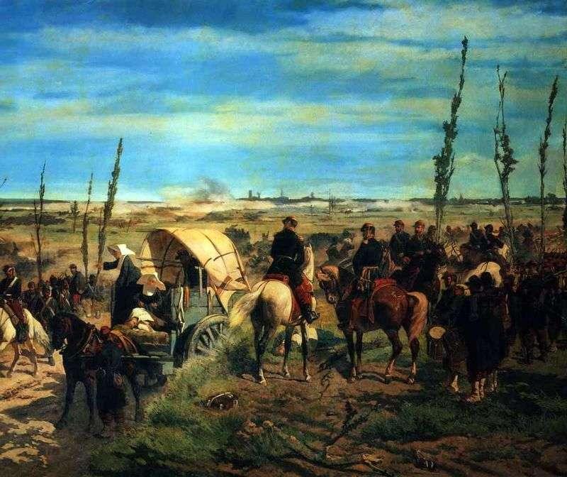 Włoski obóz w bitwie pod Magentą   Giovanni Fattori