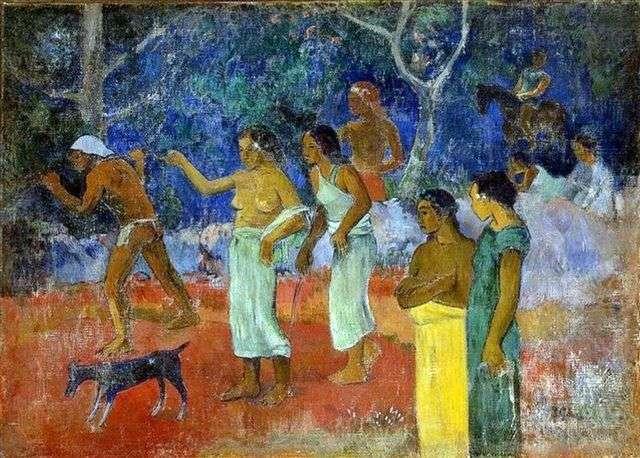 Sceny życia tahitańskiego   Paul Gauguin
