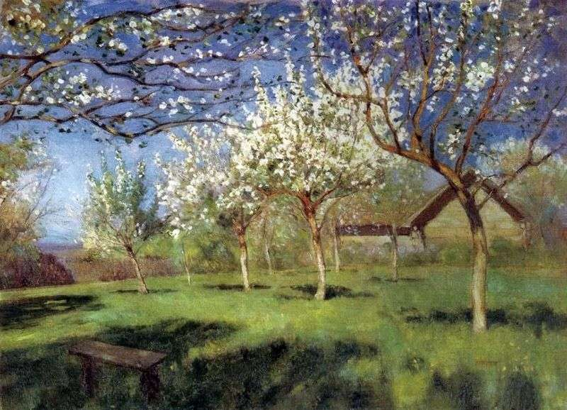 Kwitnące jabłonie   Isaac Levitan
