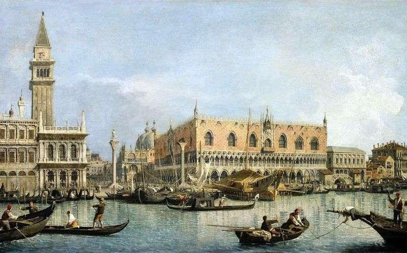 Widok na Pałac Dożów w Wenecji   Antonio Canaletto