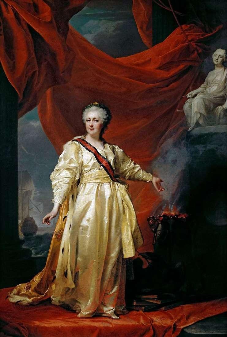 Catherine II   ustawodawca w świątyni bogini sprawiedliwości   Dmitrij Lewicki