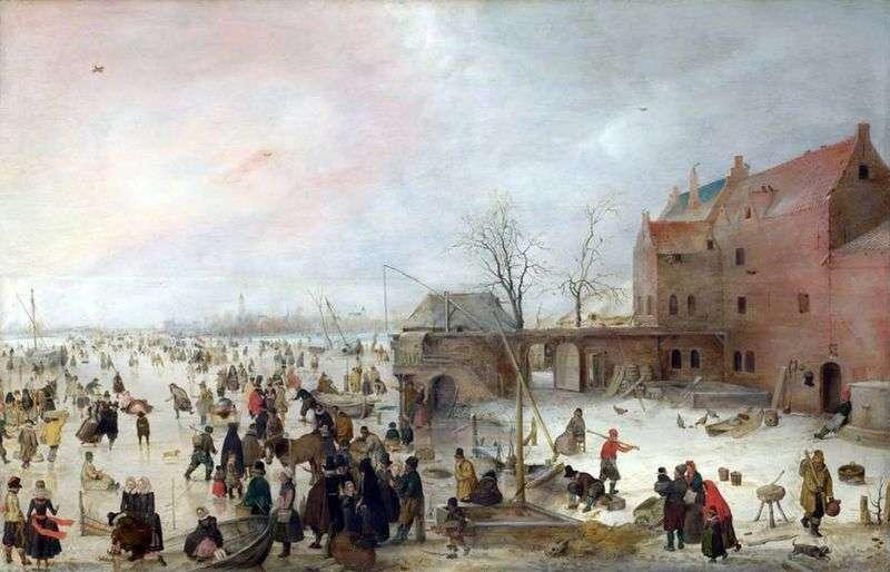 Na lodzie przy murach miejskich   Hendrik Averkamp