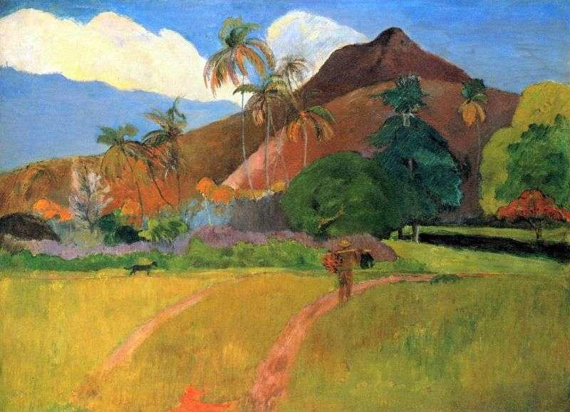 Góry na Tahiti   Paul Gauguin
