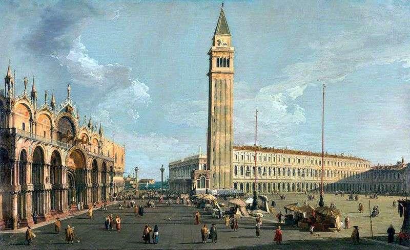 Widok na katedrę San Marco   Antonio Canaletto
