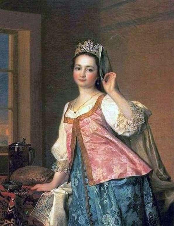 Portret A. D. Levitskaya (Agashi)   Dmitry Levitsky