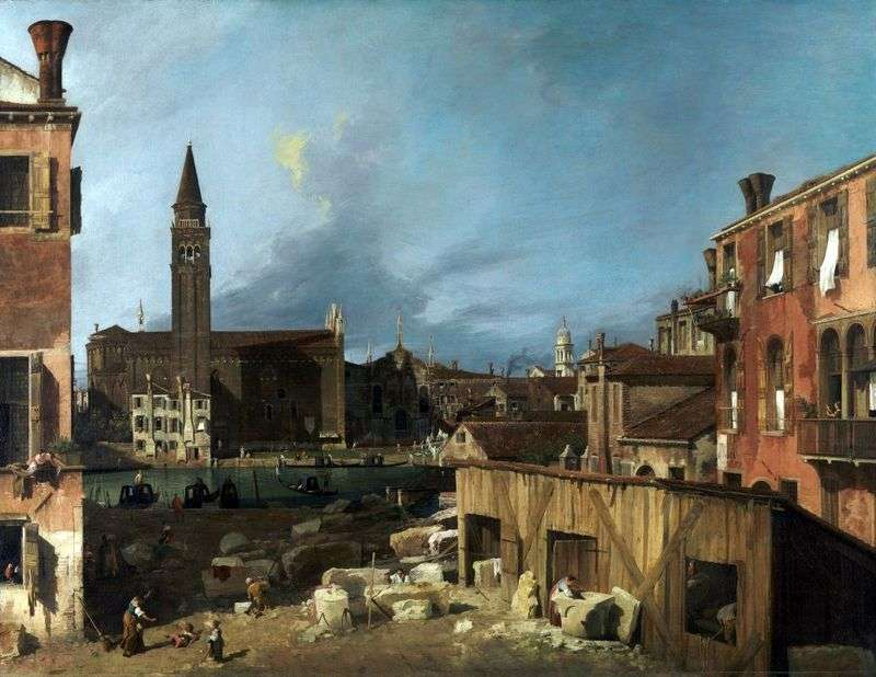Stonecutters Yard   Antonio Canaletto