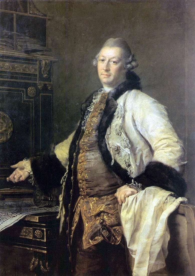 Portret architekta Aleksandra Filippovicha Kokorinova   Dmitrija Lewitskiego
