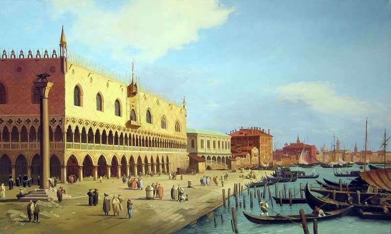 Pałac Dożów i Promenada Schiavoni   Antonio Canaletto
