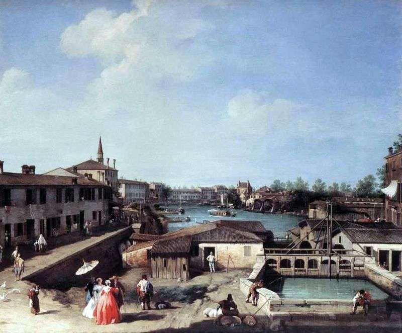 Dolo na kanale Brenta   Antonio Canaletto