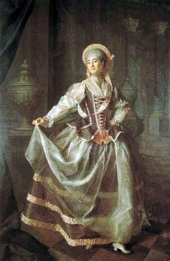 Portret uczennicy Cesarskiego Towarzystwa Oświatowego Szlachetnych Dziewcząt Aleksandry Levshiny   Dmitry Levitsky