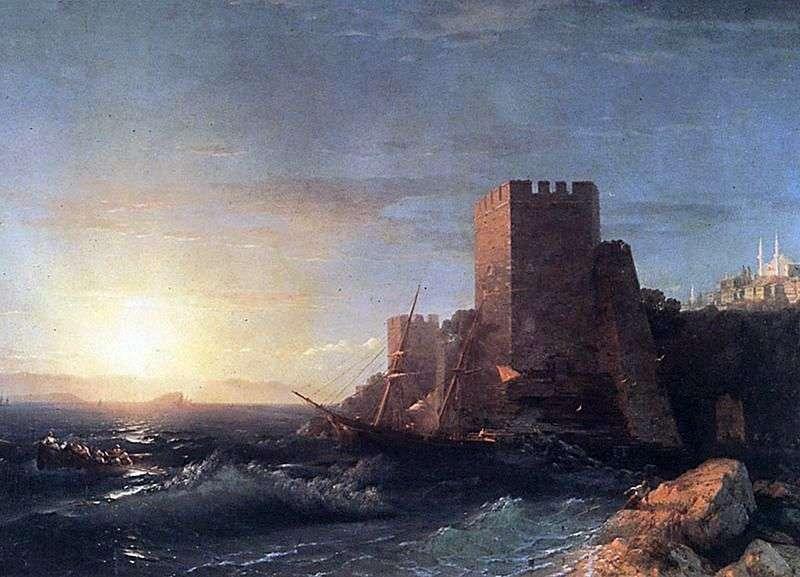Wieża na skale Bosforu   Iwan Ajwazowski