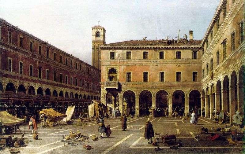 Campo di Rialto   Antonio Canaletto