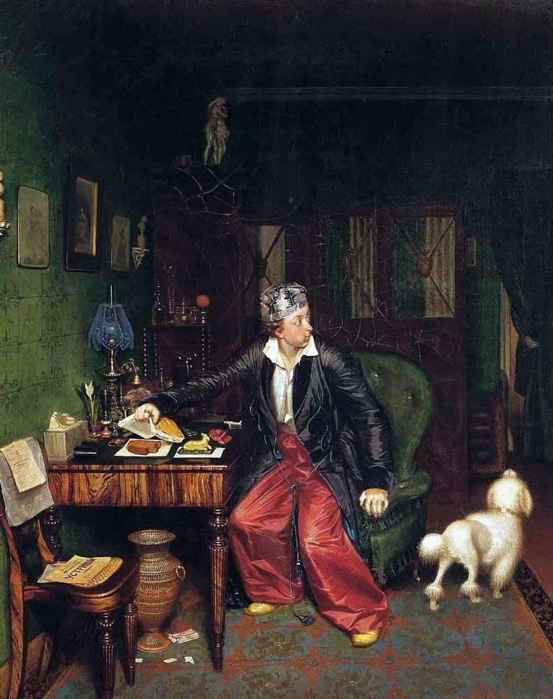 Śniadanie arystokraty   Pavel Fedotov