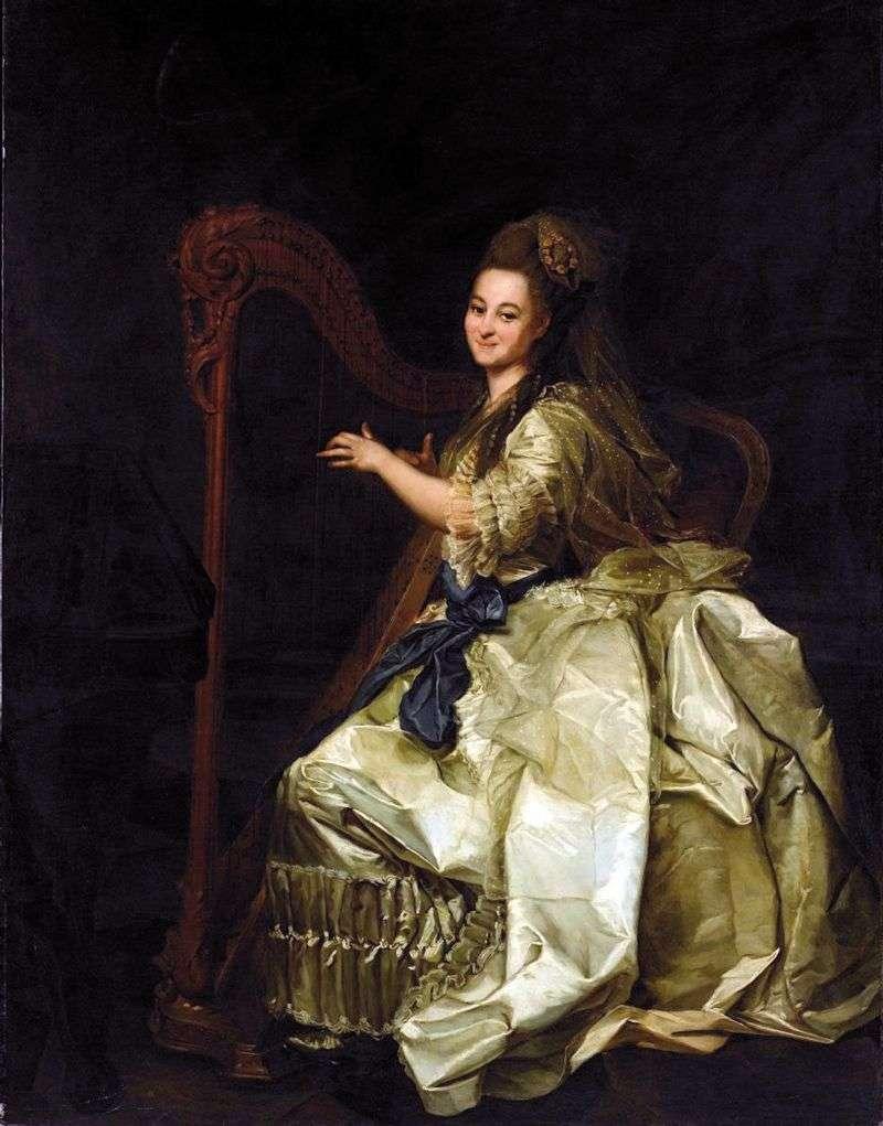 Portret Glafira Ivanovna Alymova   Dmitry Levitsky