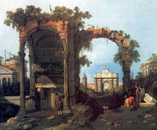 Capriccio z klasycznymi ruinami   Antonio Canaletto