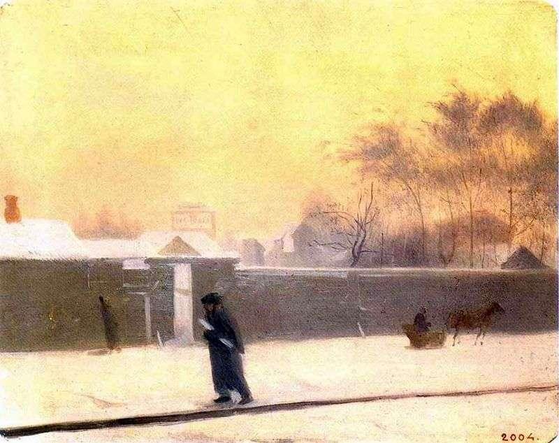Zimowy dzień   Pavel Fedotov