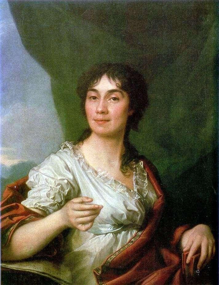 Portret hrabiny A. S. Protasova   Dmitry Levitsky
