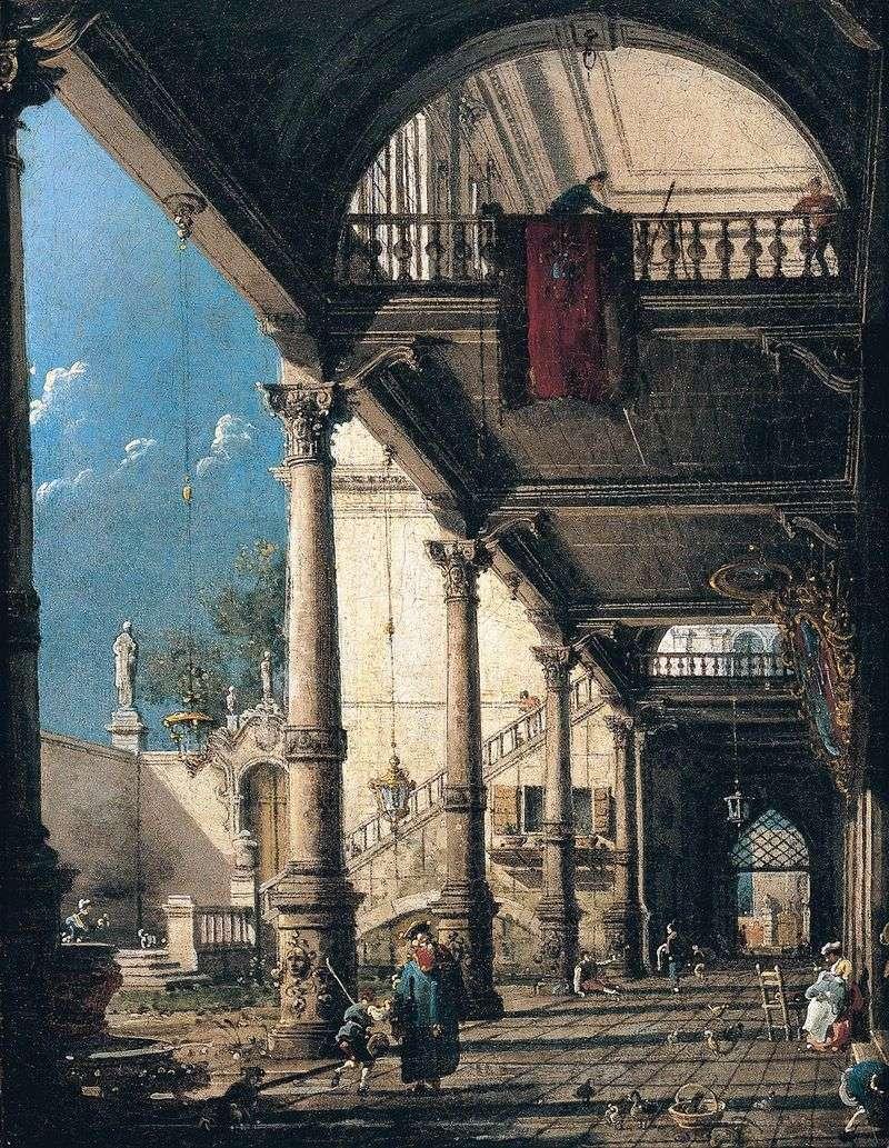 Capriccio z kolumnadą   Antonio Canaletto