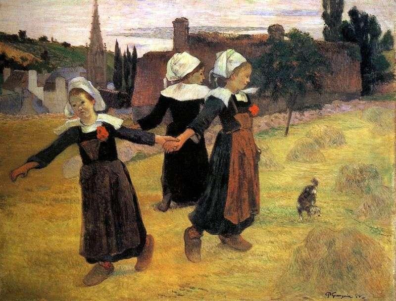 Okrągły taniec małych Bretończyków   Paul Gauguin