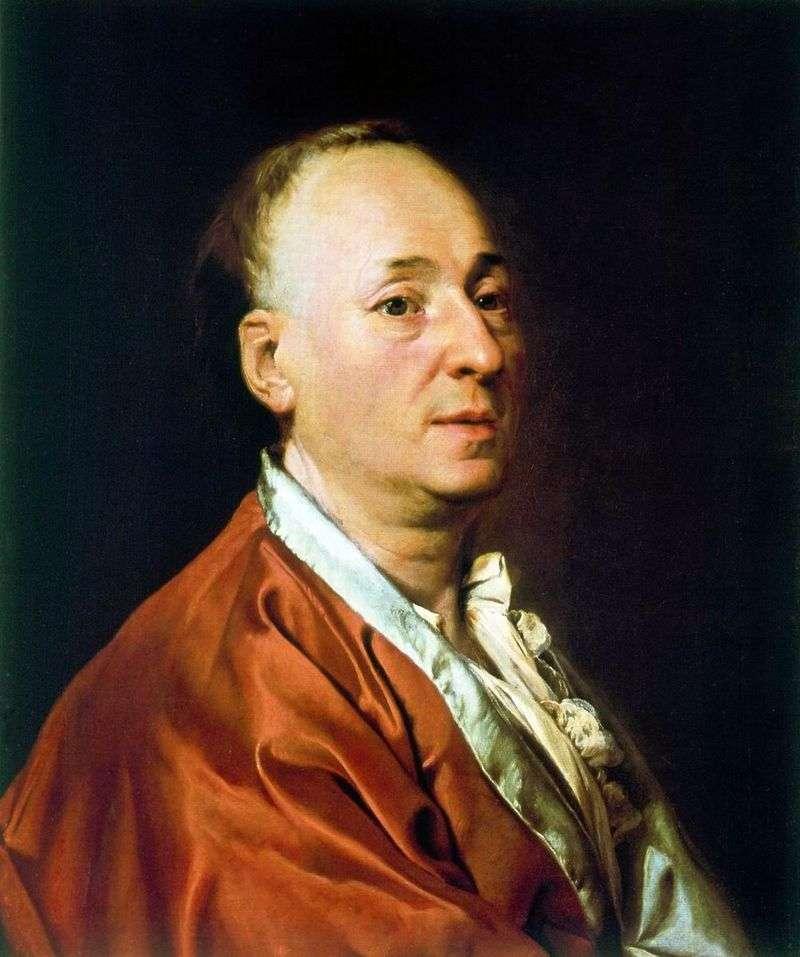 Portret D. Didro   Dmitry Levitsky