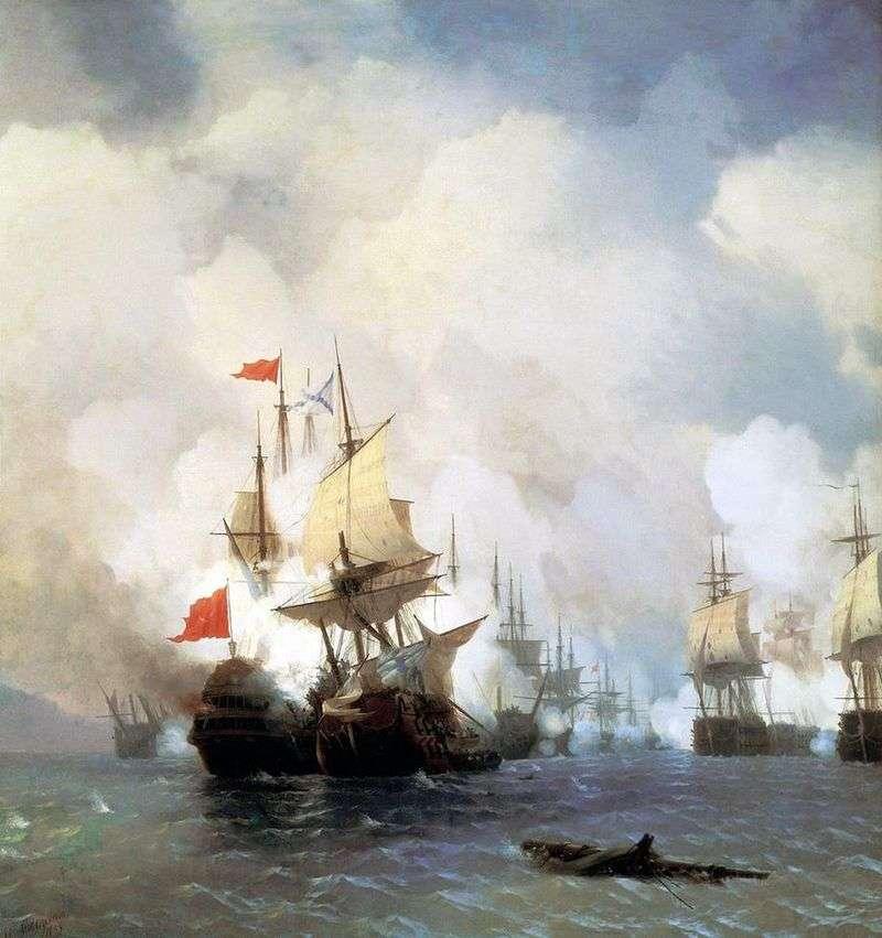 Walcz w cieśninie Chios 24 czerwca 1770 r.   Iwan Ajwazowski