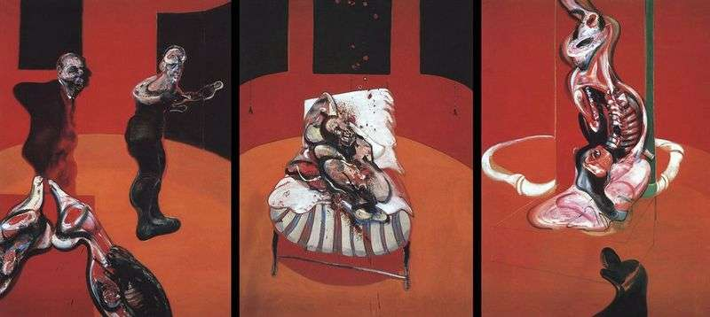Trzy etiudy postaci przy Ukrzyżowaniu   Francis Bacon