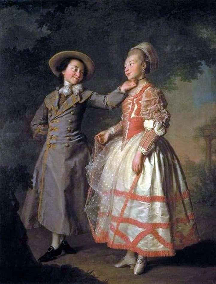 Portret E. N. Chruszczowa i E. N. Khovanskaya (Smolanka)   Dmitrij Lewicki