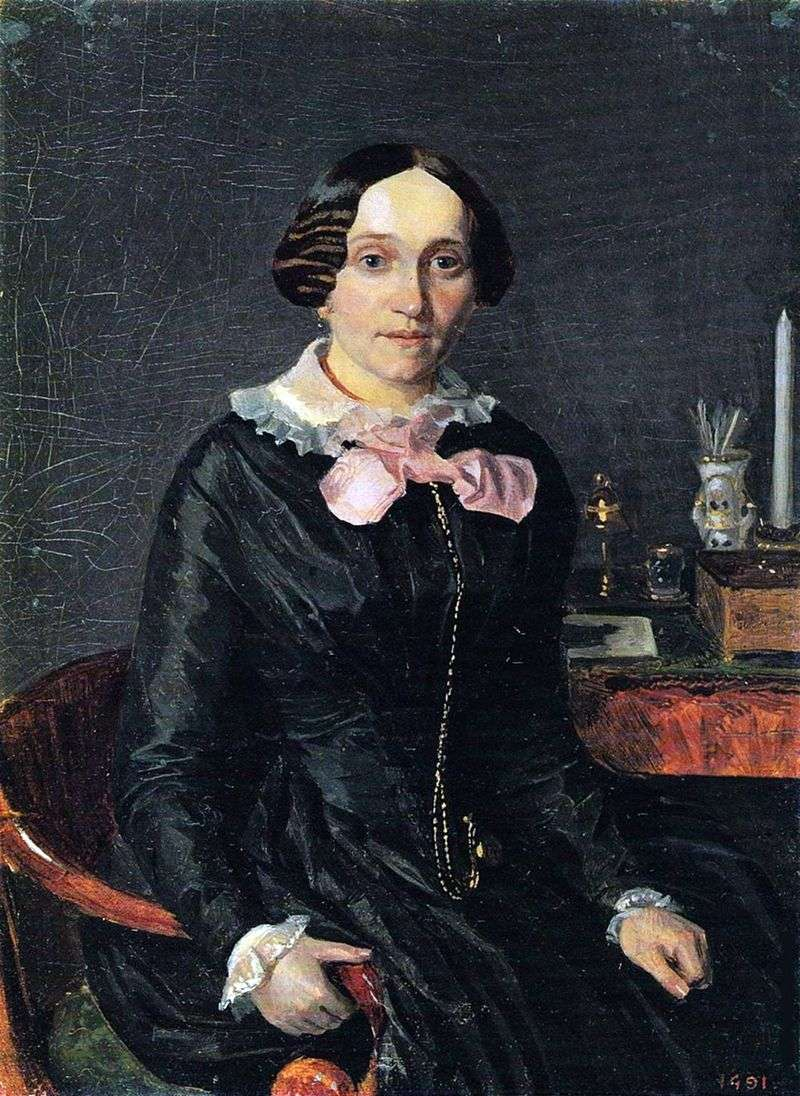 Portret Alexandra Petrovna Zhdanovich   Pavel Fedotov
