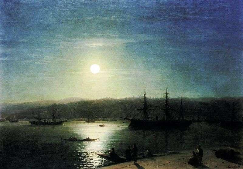Bosphorus w księżycową noc   Ivan Aivazovsky