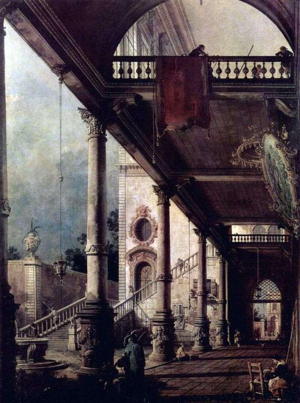 Portico Perspective   Antonio Canaletto