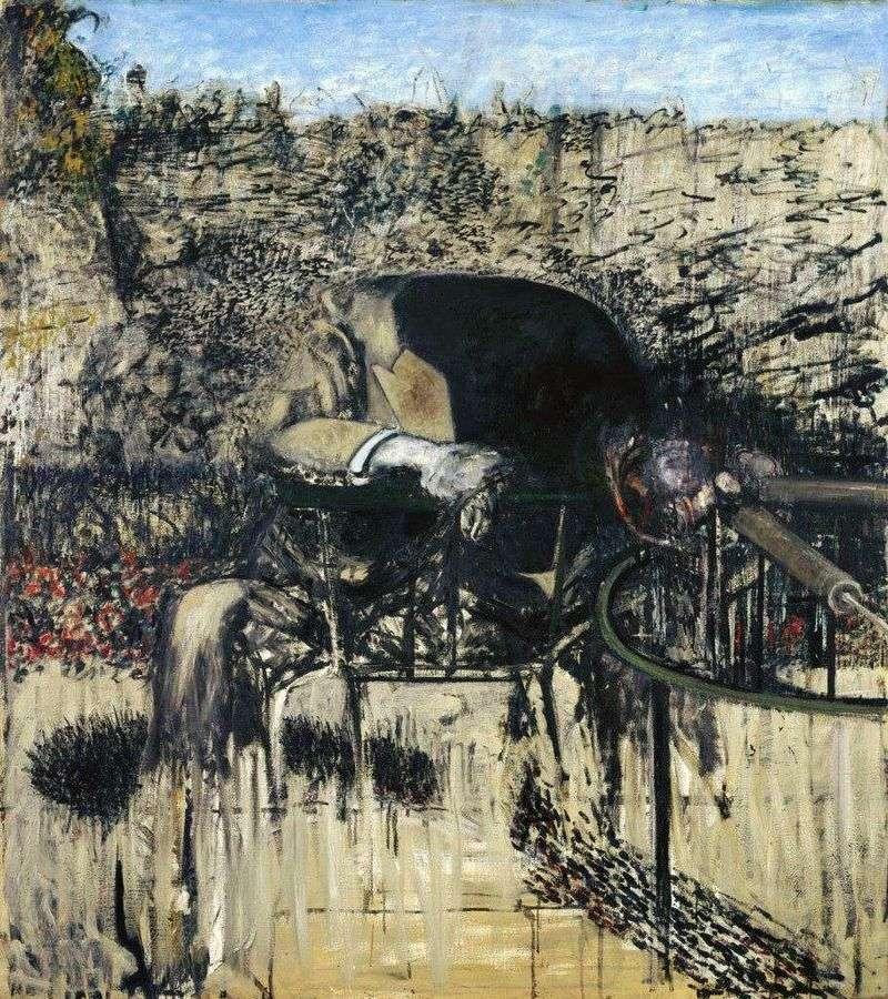 Postać w krajobrazie   Francis Bacon