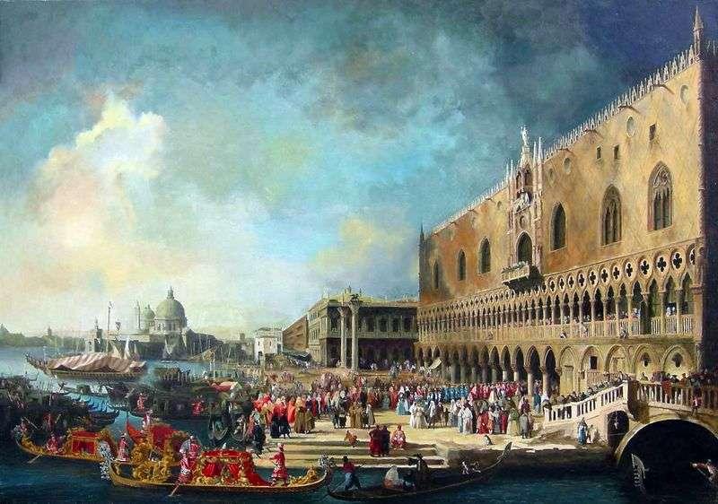 Odbiór francuskiego ambasadora w Wenecji   Antonio Canaletto