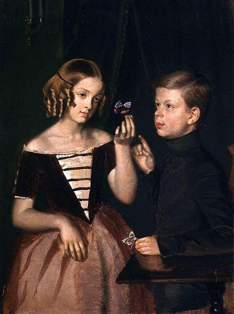 Portret dzieci Zherbinsa   Pavel Fedotov