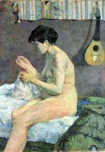 Kobieta do szycia   Paul Gauguin