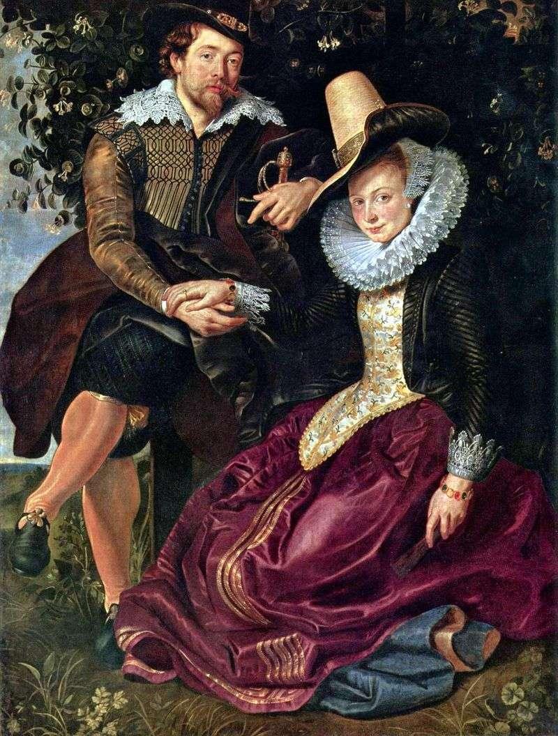 Artysta z żoną Isabellą Brant   Peter Rubens
