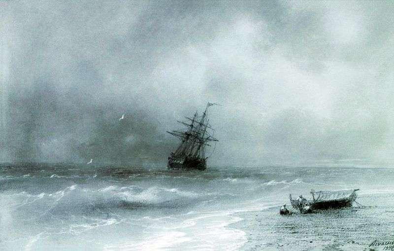 Burzliwe morze   Iwan Ajwazowski