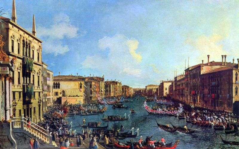 Regaty na Canale Grande   Antonio Canaletto