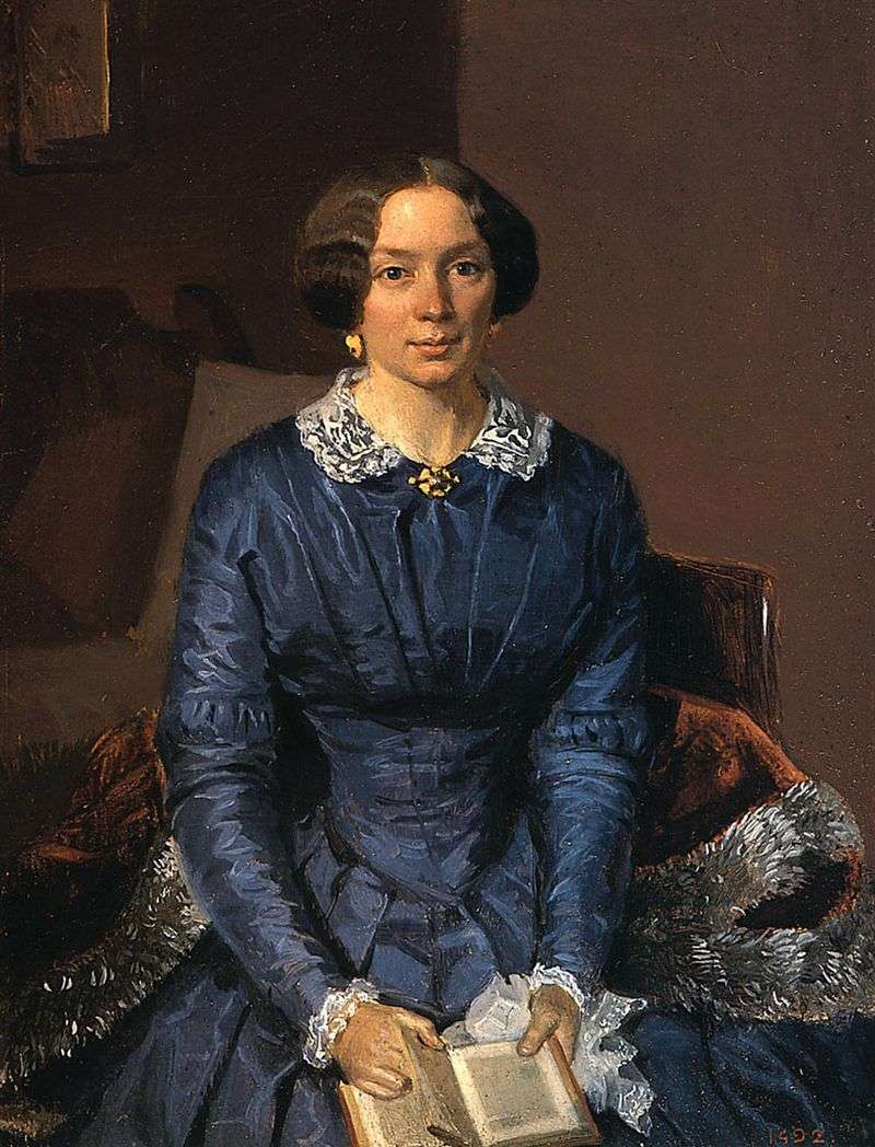Portret Elizabeth Zhdanovich Petrovna   Pavel Fedotov