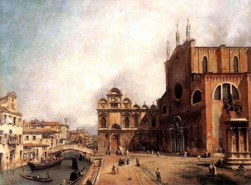 Kościół św. Jan i Paweł oraz Szkoła San Marco   Antonio Canaletto