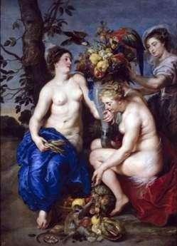 Ceres i dwie nimfy   Peter Rubens