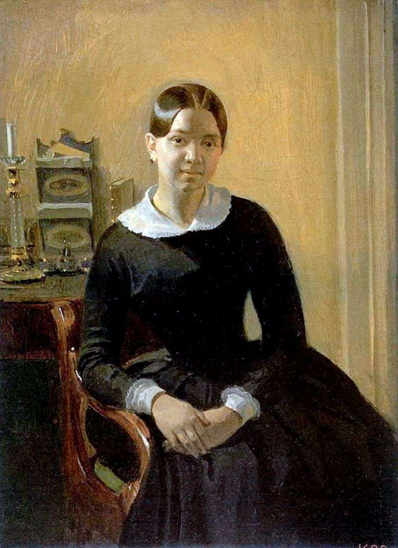 Portret Anny Pietrowna Żdanowicz   Fedotov Pavel Andreevich