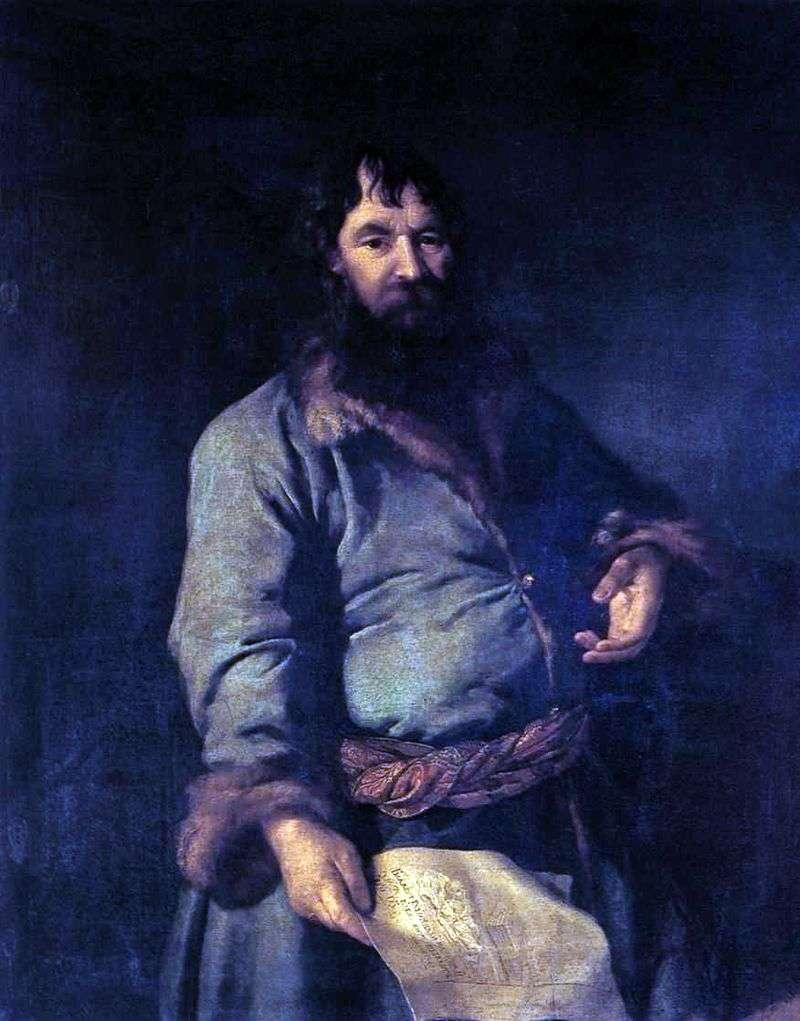 Portret N. A. Sezamova   Dmitrija Lewitskiego