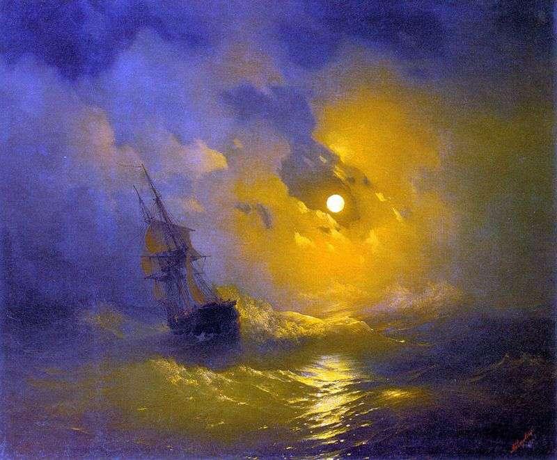 Burza na morzu nocą   Ivan Aivazovsky