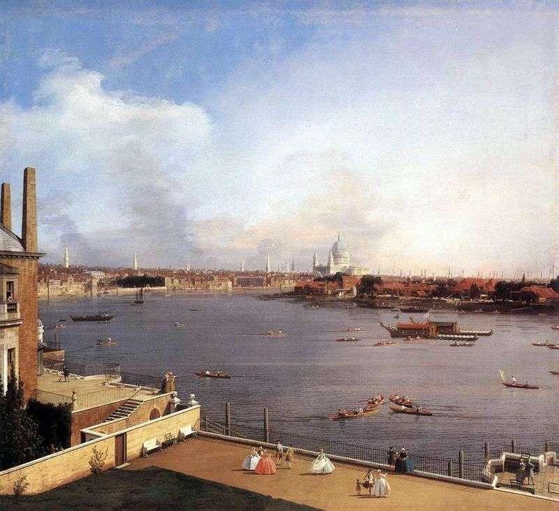 Przedmieścia Thames i Richmond   Antonio Canaletto